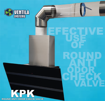 Pachutěsná zpětná klapka do potrubí KPK