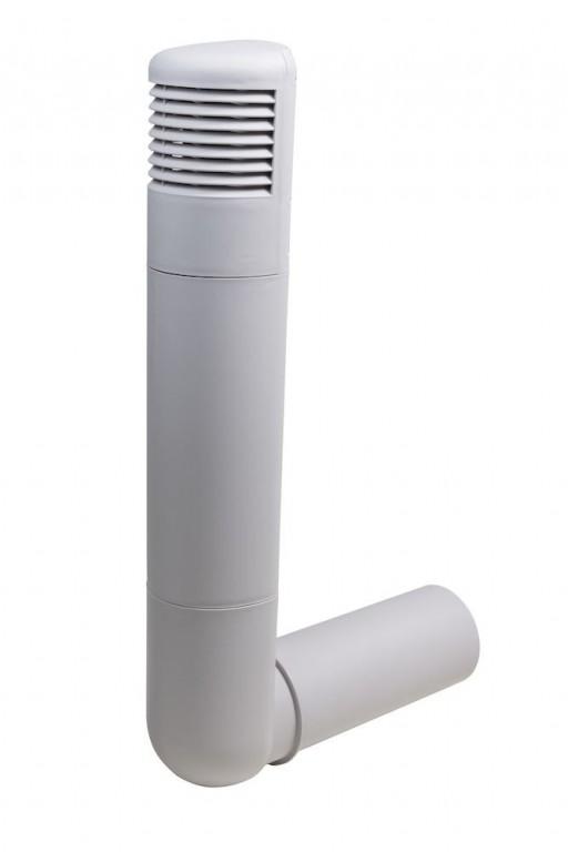 Větrací komínek ROSS Ø 160/170 mm, světle šedá RAL 7040
