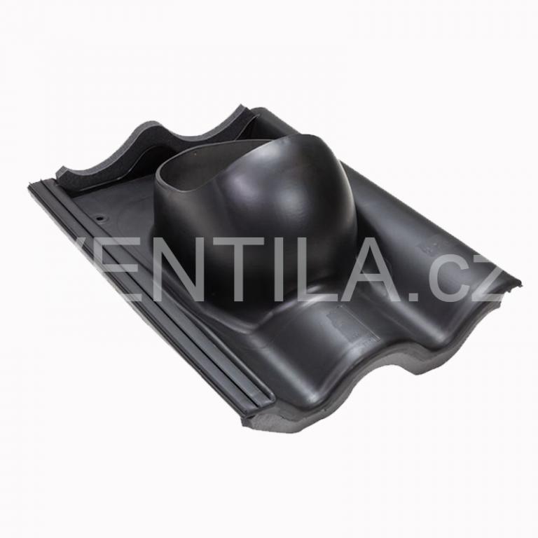 Průchodový prvek pro betonovou tašku, černá RAL 9005