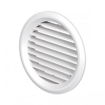 Kruhová odvětrávací mřížka VP MV 125 bVs bílá (se síťkou)