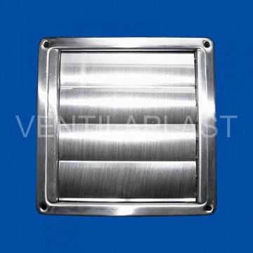 Čtyřhranná mřížka s žaluzií nerez VP MVM 100 VJN