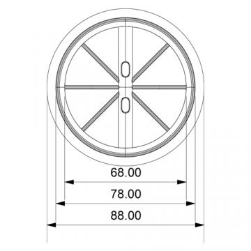 Ventila KZK-S 80 zpětná klapka se síťkou
